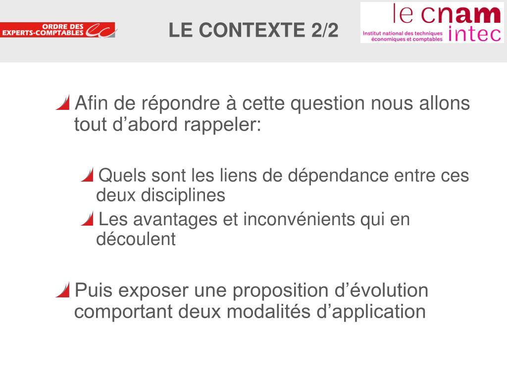 LE CONTEXTE 2/2