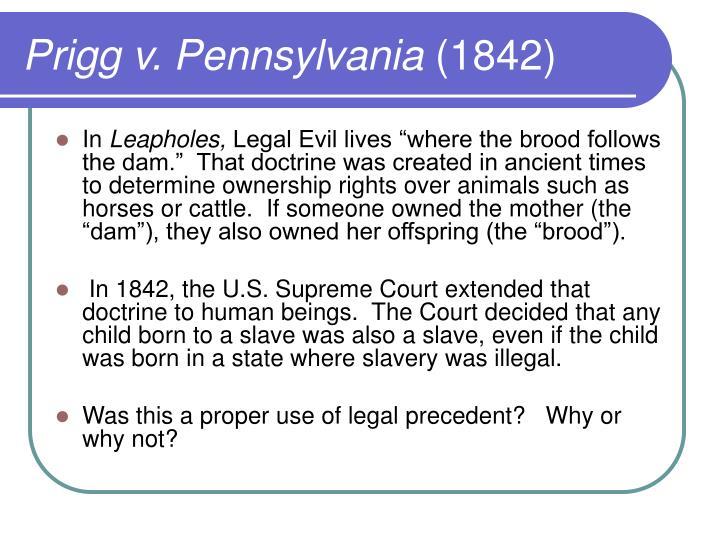 Prigg v. Pennsylvania