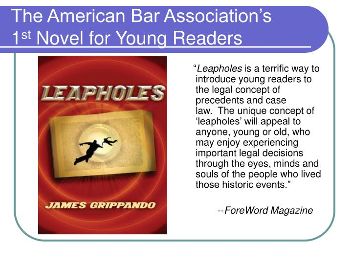 The american bar association s 1 st novel for young readers