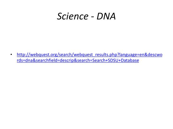 Science - DNA