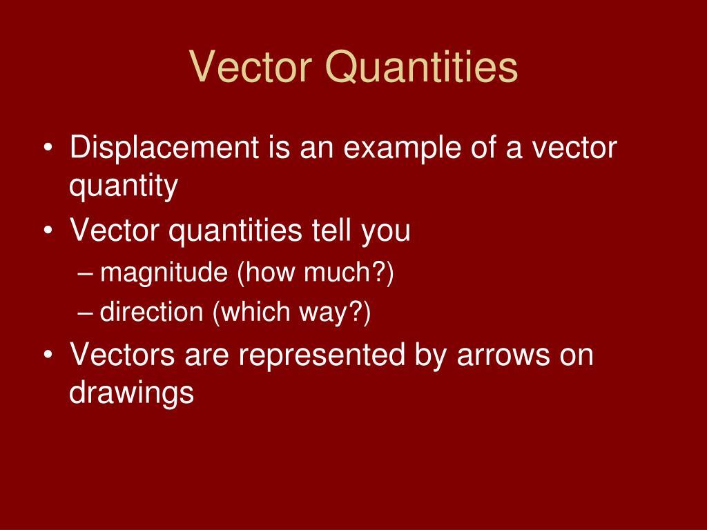 Vector Quantities