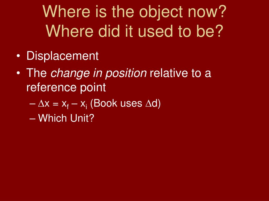 Where is the object now?