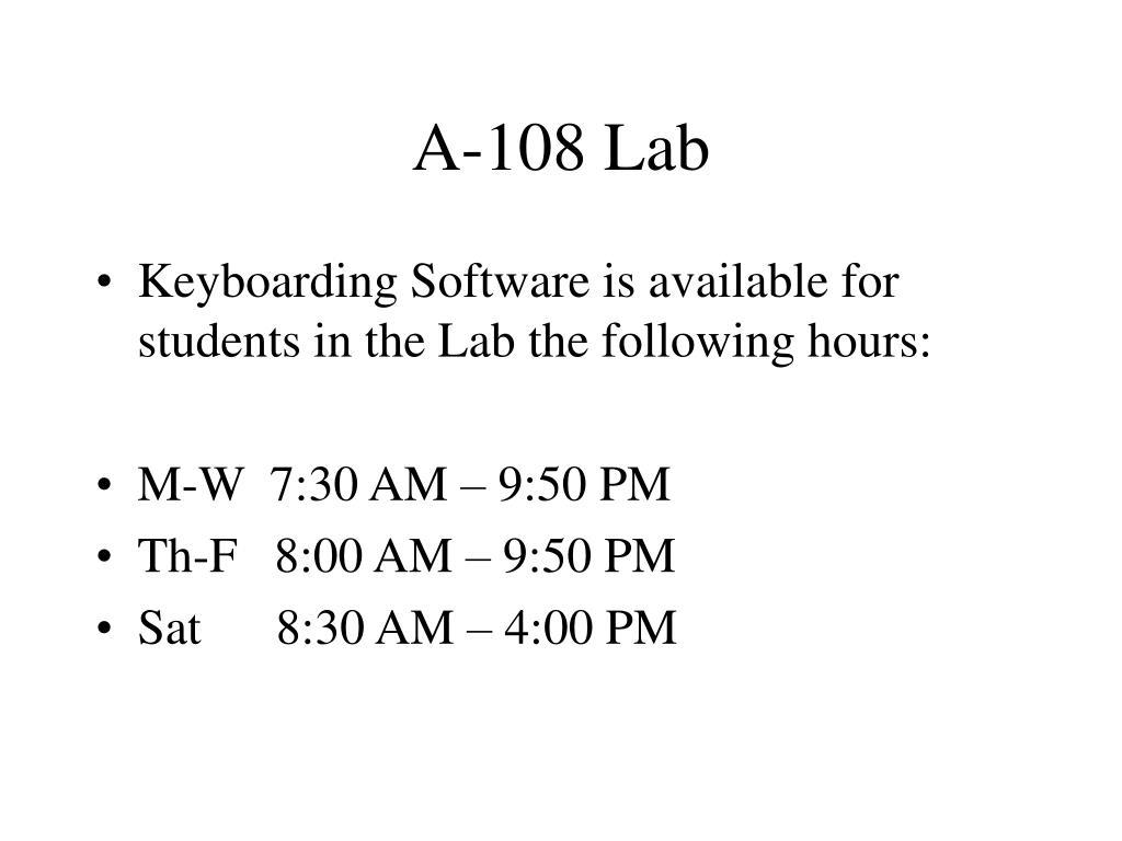 A-108 Lab