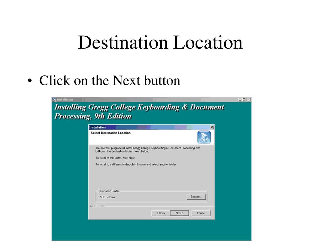 Destination Location