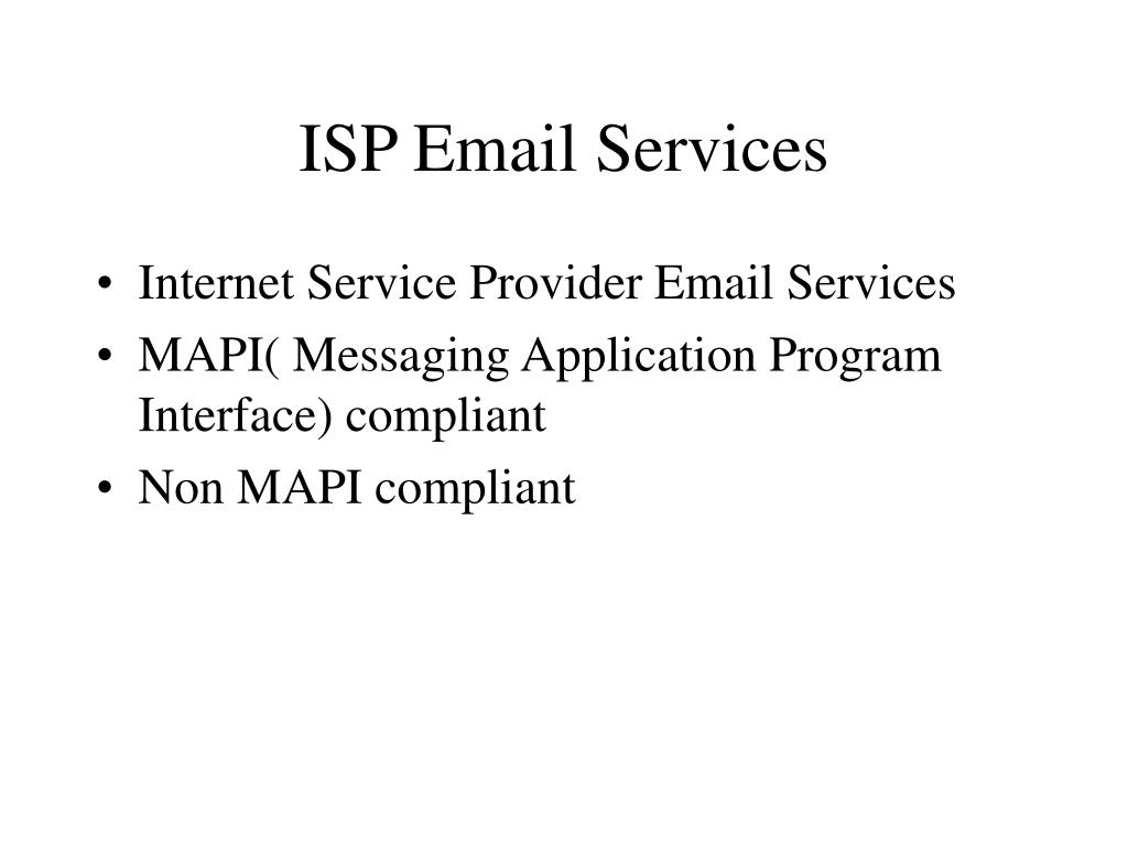 ISP Email Services