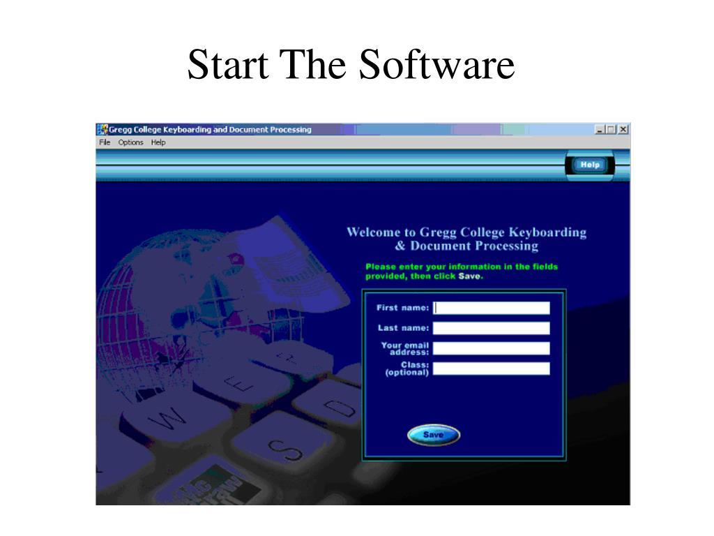 Start The Software