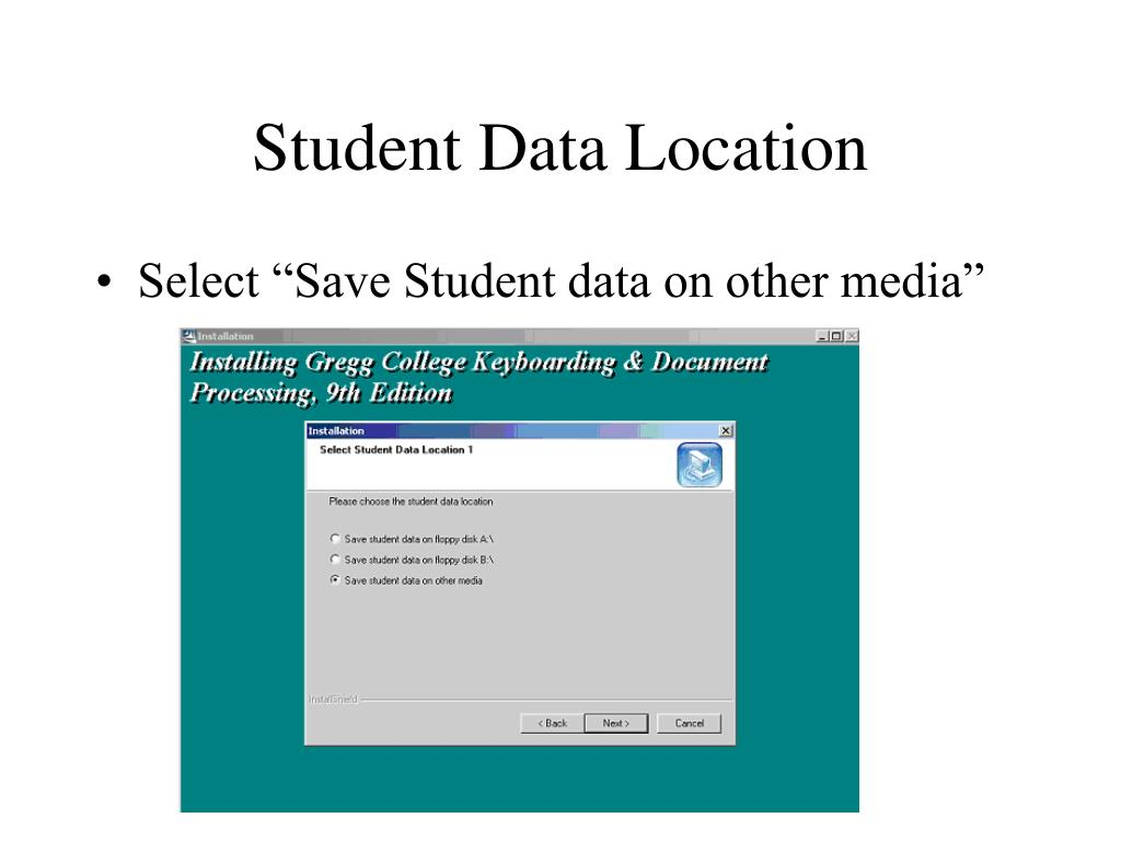 Student Data Location