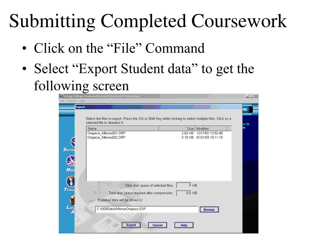 Submitting Completed Coursework