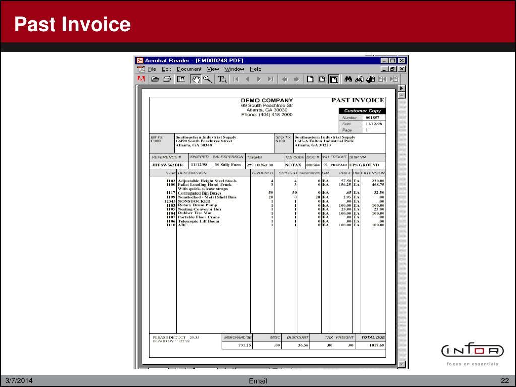 Past Invoice