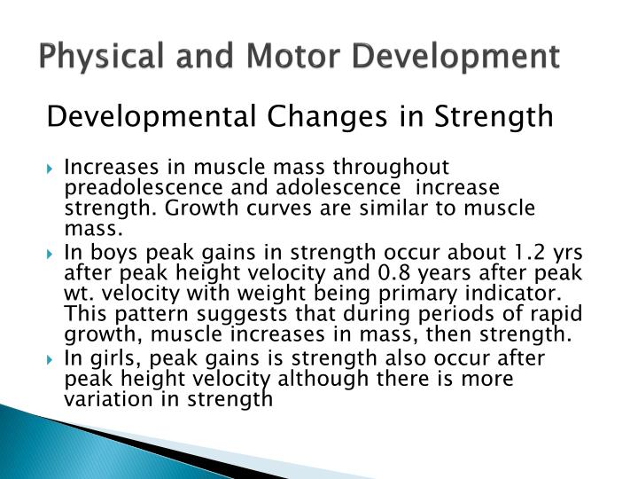 Physical and Motor Development