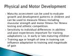 physical and motor development2