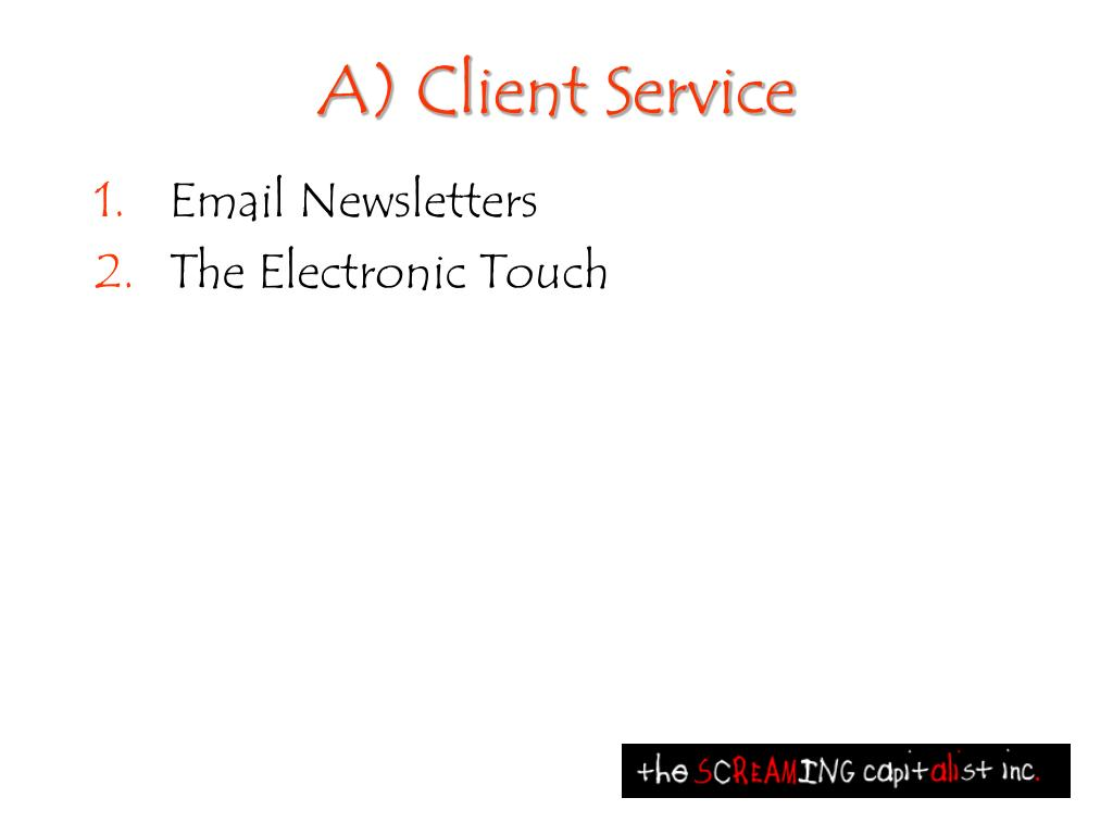 A) Client Service
