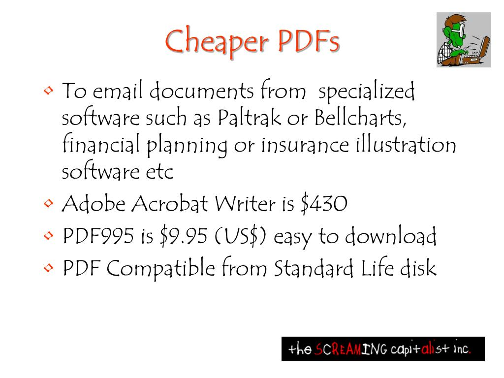 Cheaper PDFs