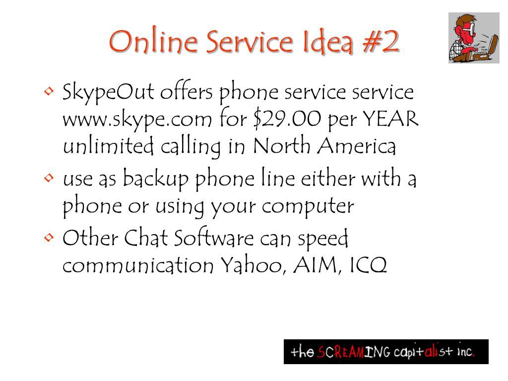 Online Service Idea #2