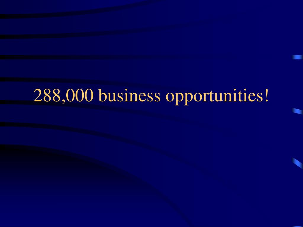 288,000 business opportunities!