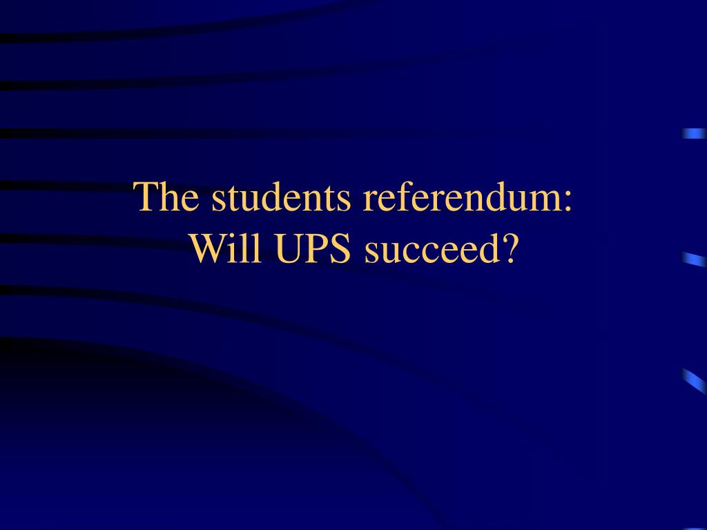 The students referendum: