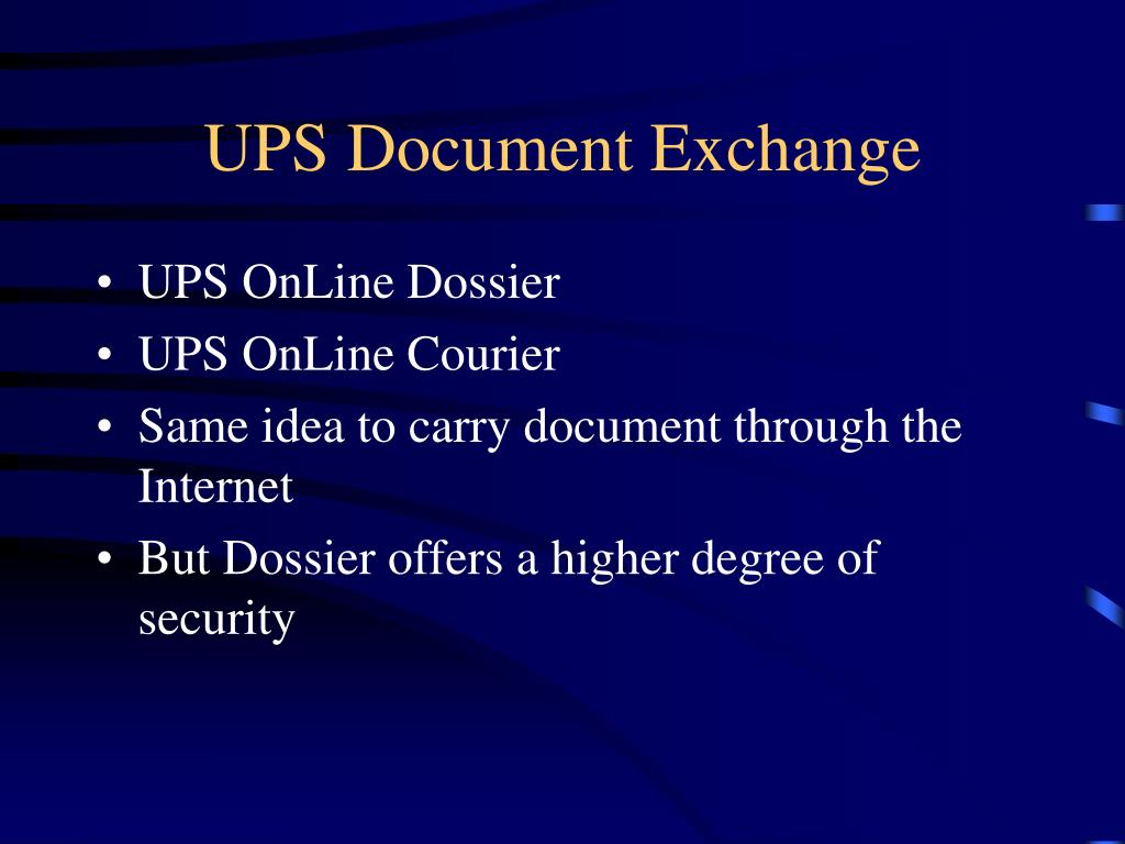 UPS Document Exchange