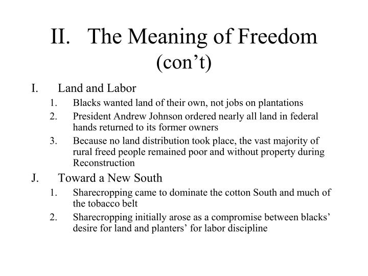what is freedom reconstruction 1865 1877 A timeline of reconstruction: 1865-1877 history 122  lee surrenders to grant  president johnson presents plans for reconstruction.
