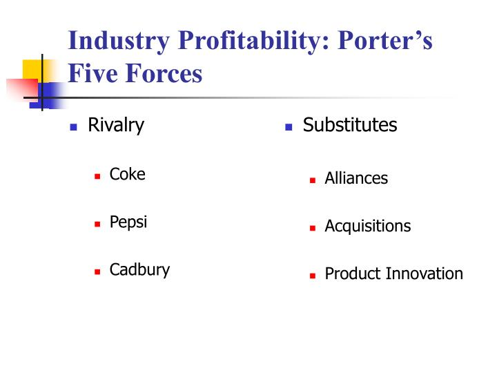 coca pepsi five forces Latasha smith 9/22/14 badm 449 coke v pepsi 5-forces industry analysis  threat of new entrants the threat of new companies enter the industry is  relatively.