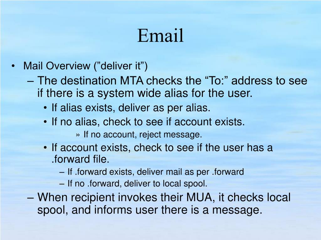"Mail Overview (""deliver it"")"