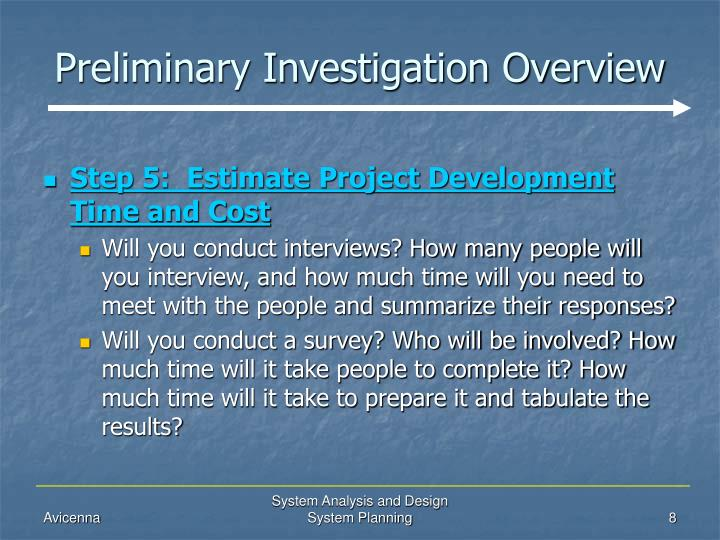 PPT - System Planning (Preliminary Investigation Overview) PowerPoint Presentation - ID:481536