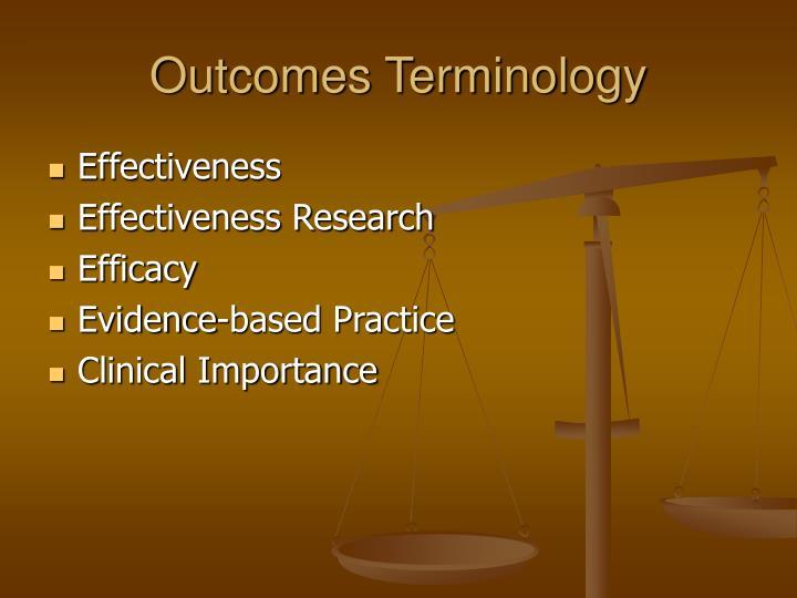 Outcomes Terminology