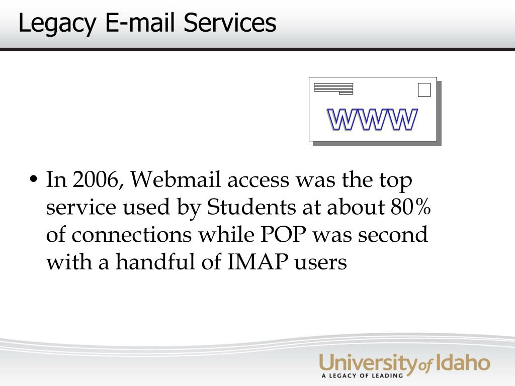 Legacy E-mail Services