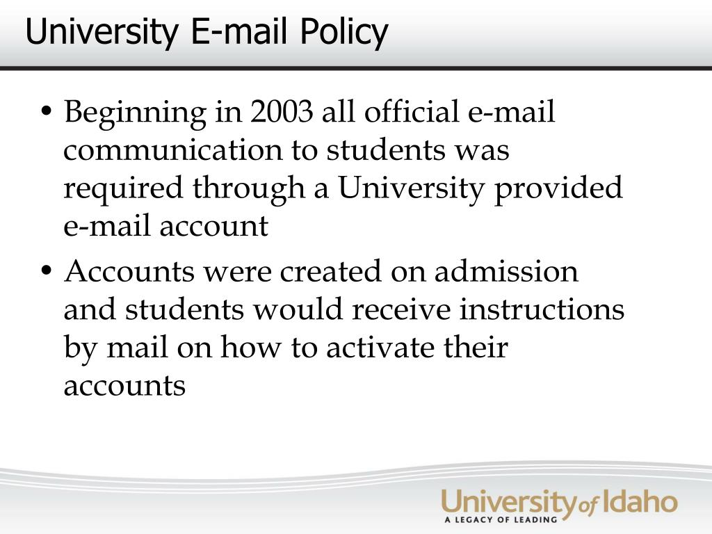 University E-mail Policy