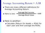 average accounting return aar