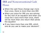 irr and nonconventional cash flows