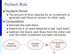 payback rule
