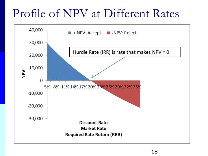 Profile of NPV at Different Rates
