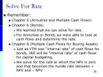 solve for rate