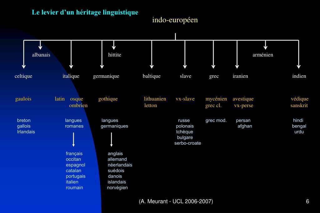 Le levier d'un héritage linguistique