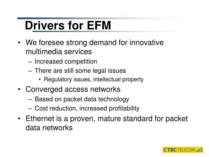 Drivers for EFM