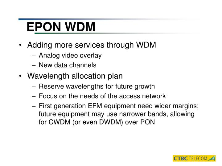 EPON WDM