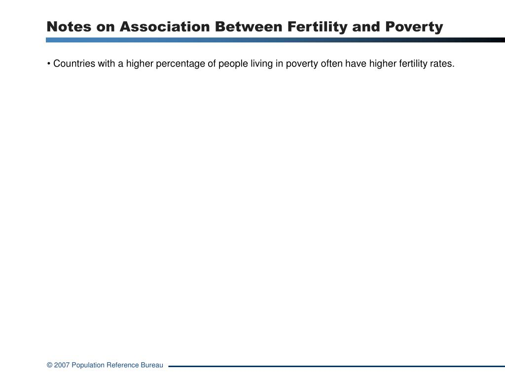 Notes on Association Between Fertility and Poverty