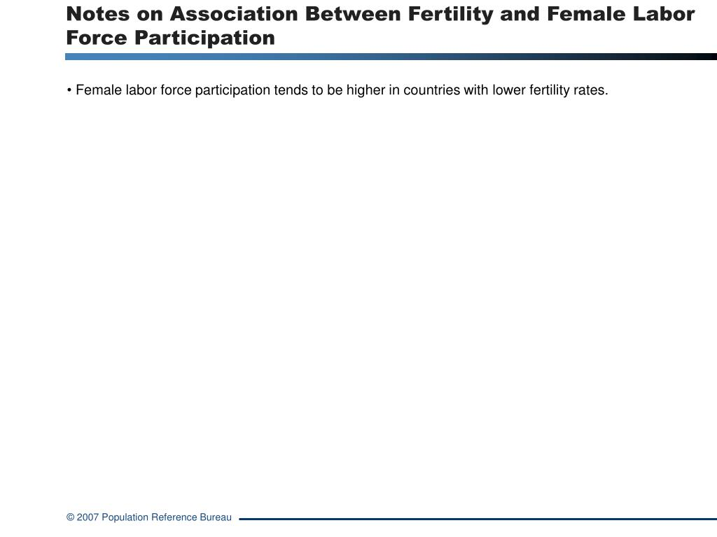 Notes on Association Between Fertility and Female Labor Force Participation