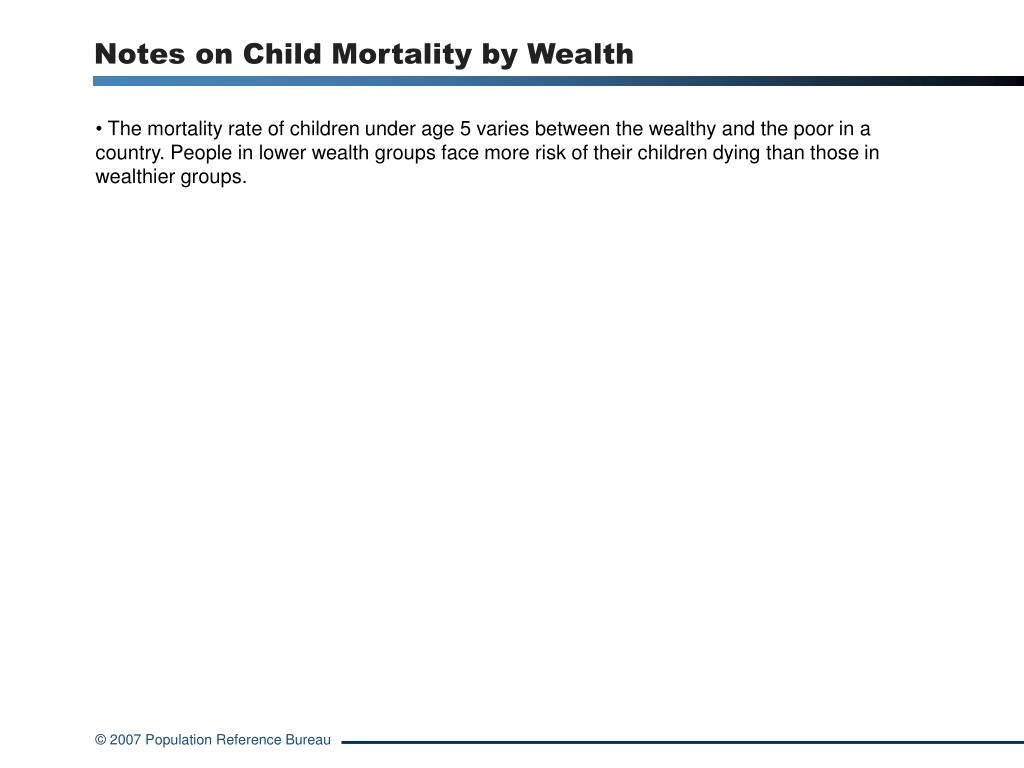 Notes on Child Mortality by Wealth