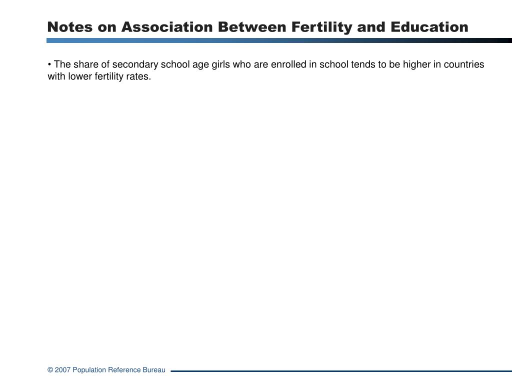 Notes on Association Between Fertility and Education