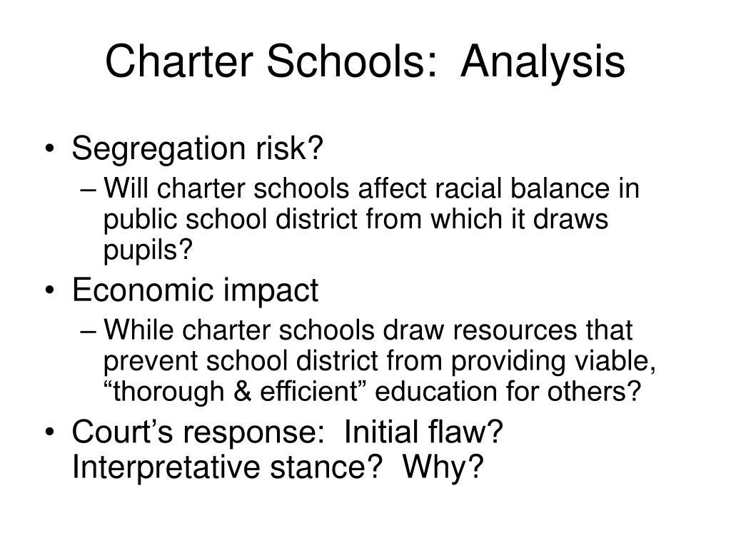 Charter Schools:  Analysis