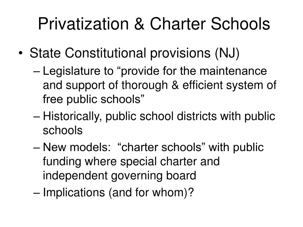 Privatization & Charter Schools