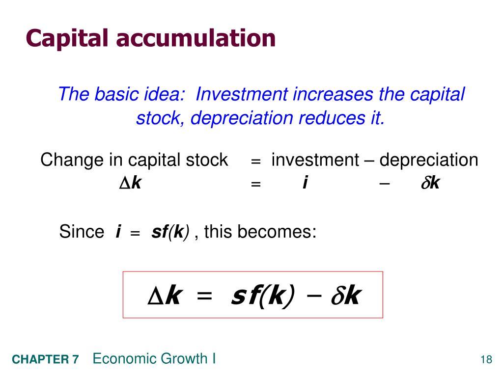 Capital accumulation
