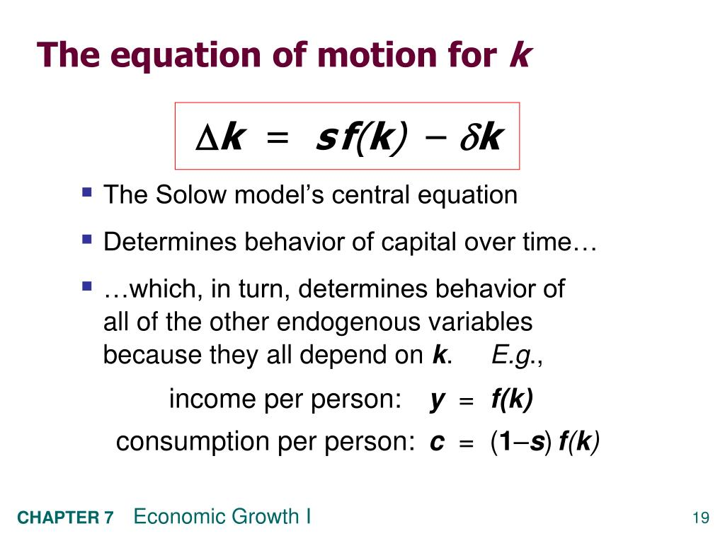 The equation of motion for