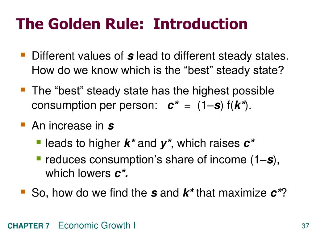 The Golden Rule:  Introduction
