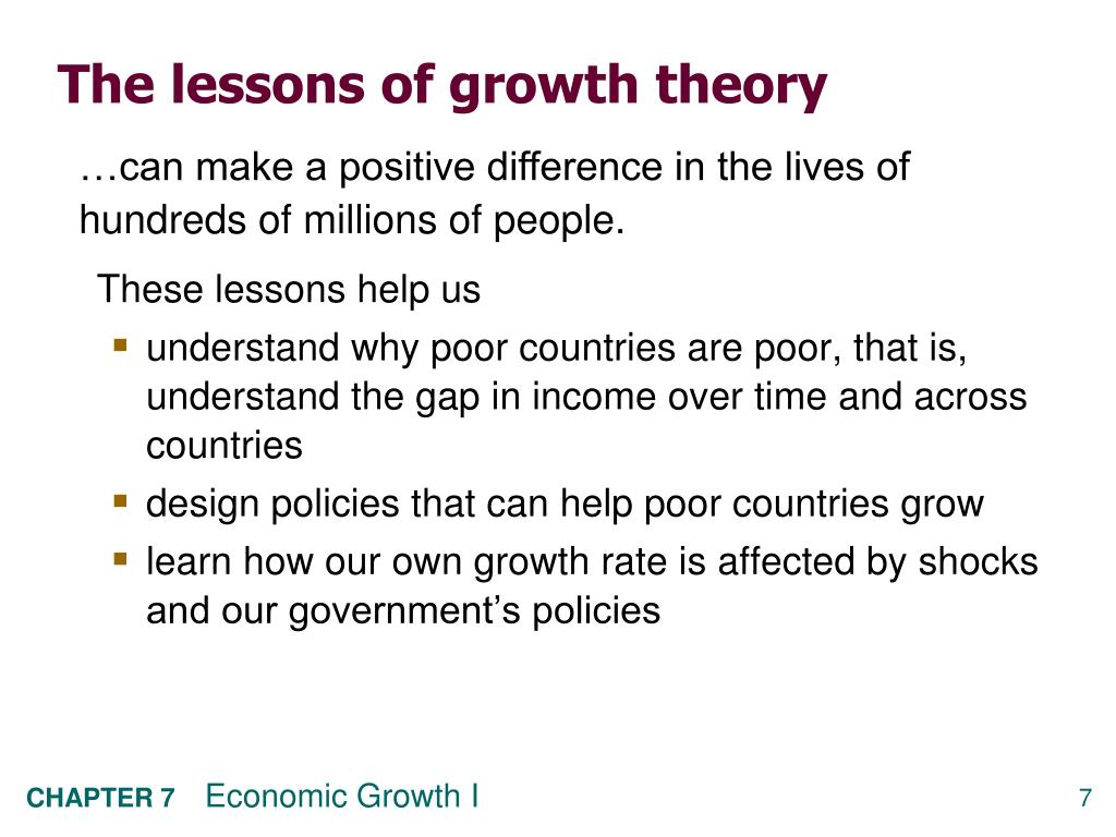 The lessons of growth theory
