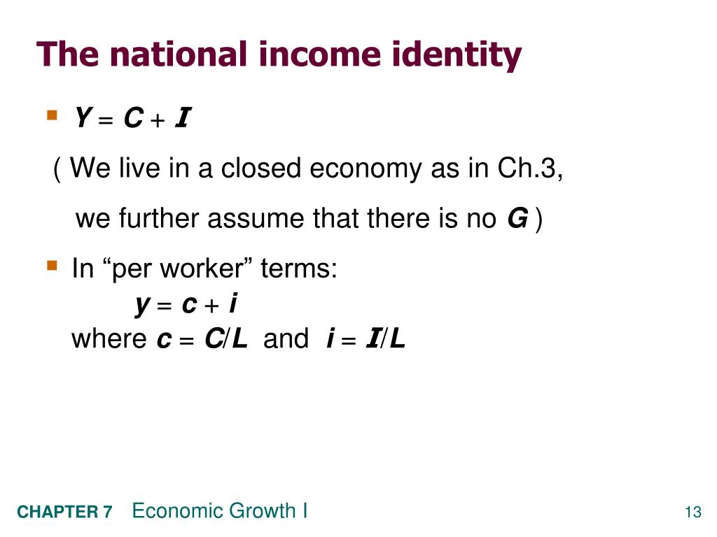 The national income identity