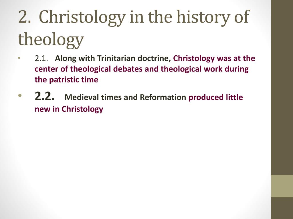 introduction to christology Building on the covenantal foundation set down in the pentateuch, the pre-exilic prophets lamented that israel was breaking god's covenant and called on them to repent they warned the people that if they did not repent god would pour out upon them the curses of the covenant, including the.