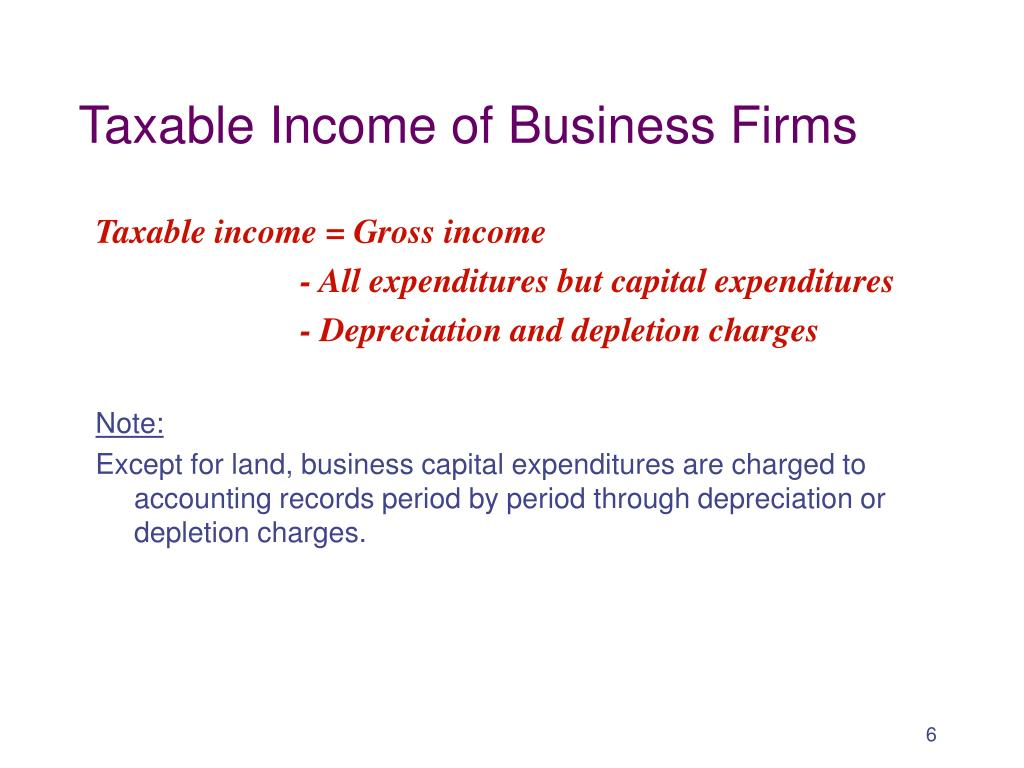 Taxable Income of Business Firms