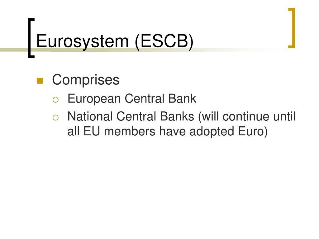 Eurosystem (ESCB)